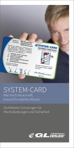 SYSTEM-CARD Schulung Flyer